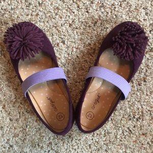 Girls Pom Pom dress shoes